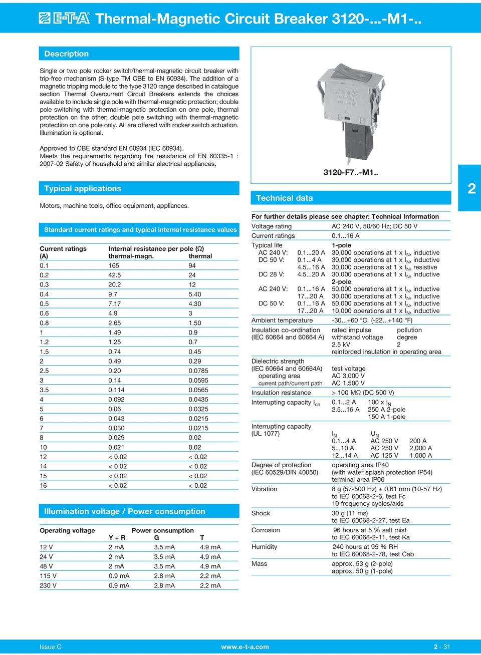 Thermal Magnetic Circuit Breaker M Pdf 12 Volt Breakers Protection Double Pole Switching With On One 6
