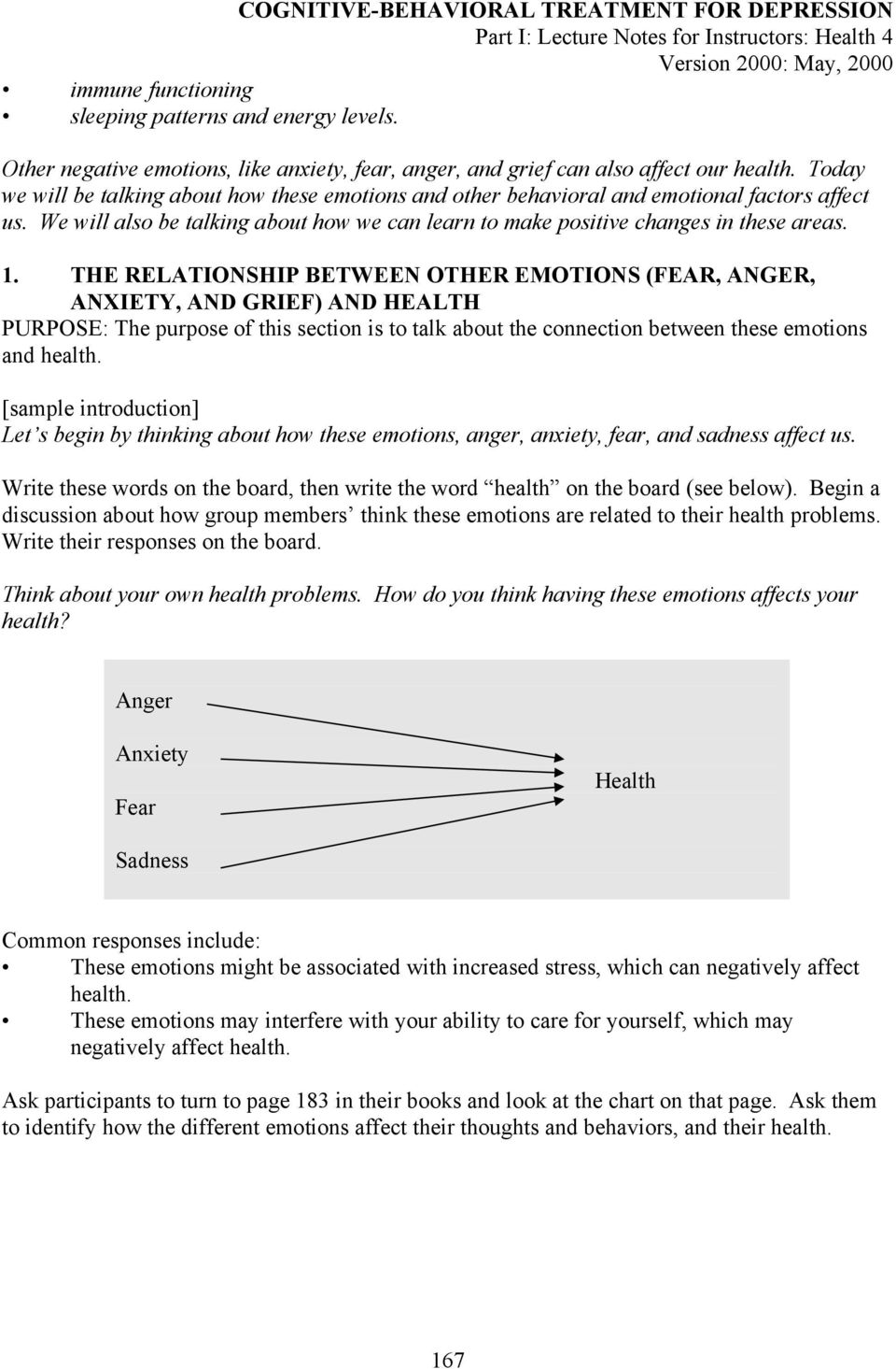 THE RELATIONSHIP BETWEEN OTHER EMOTIONS (FEAR, ANGER, ANXIETY, AND GRIEF) AND HEALTH PURPOSE: The purpose of this section is to talk about the connection between these emotions and health.