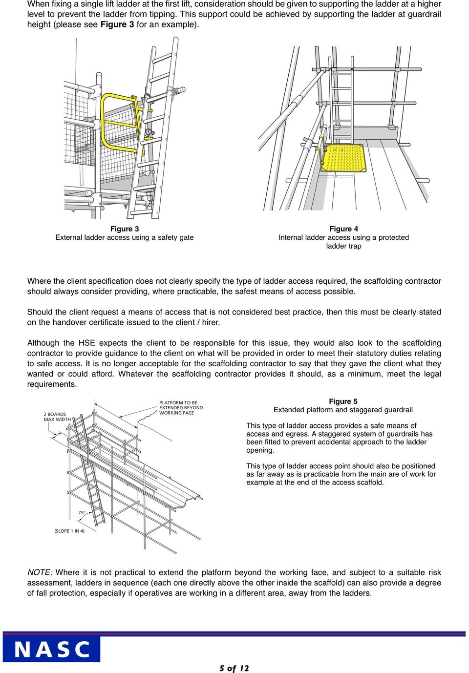 Sg2514 N A S C Access And Egress From Scaffolds Via Ladders And