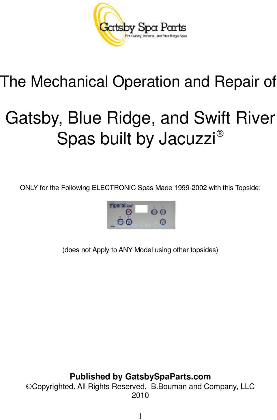 Gatsby Spa Wiring Diagram Schematic Diagrams Master Blue Ridge And Swift River Spas Built By Jacuzzi Pdf