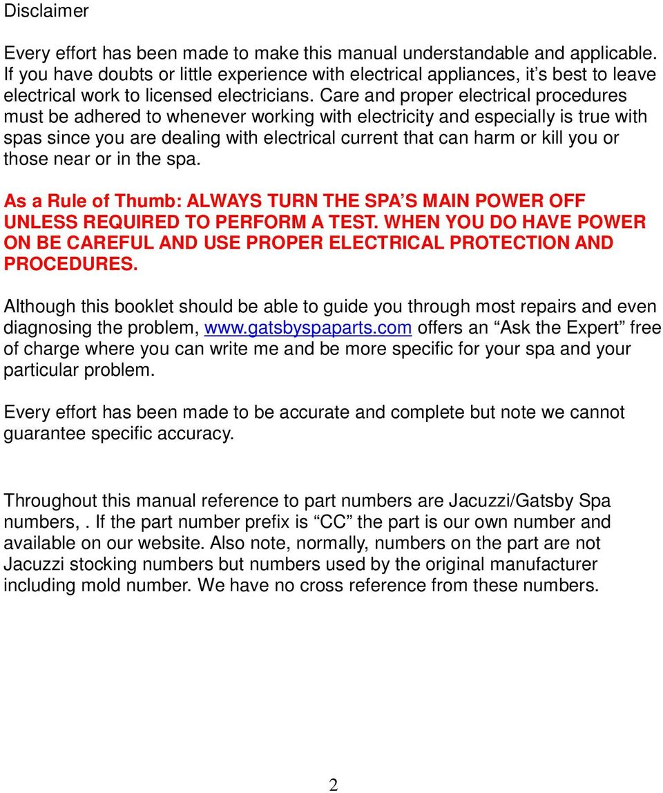 Gatsby Spa Wiring Diagram Library Moreover Gfi Electrical Care And Proper Procedures Must Be Adhered To Whenever Working With Electricity Especially Is