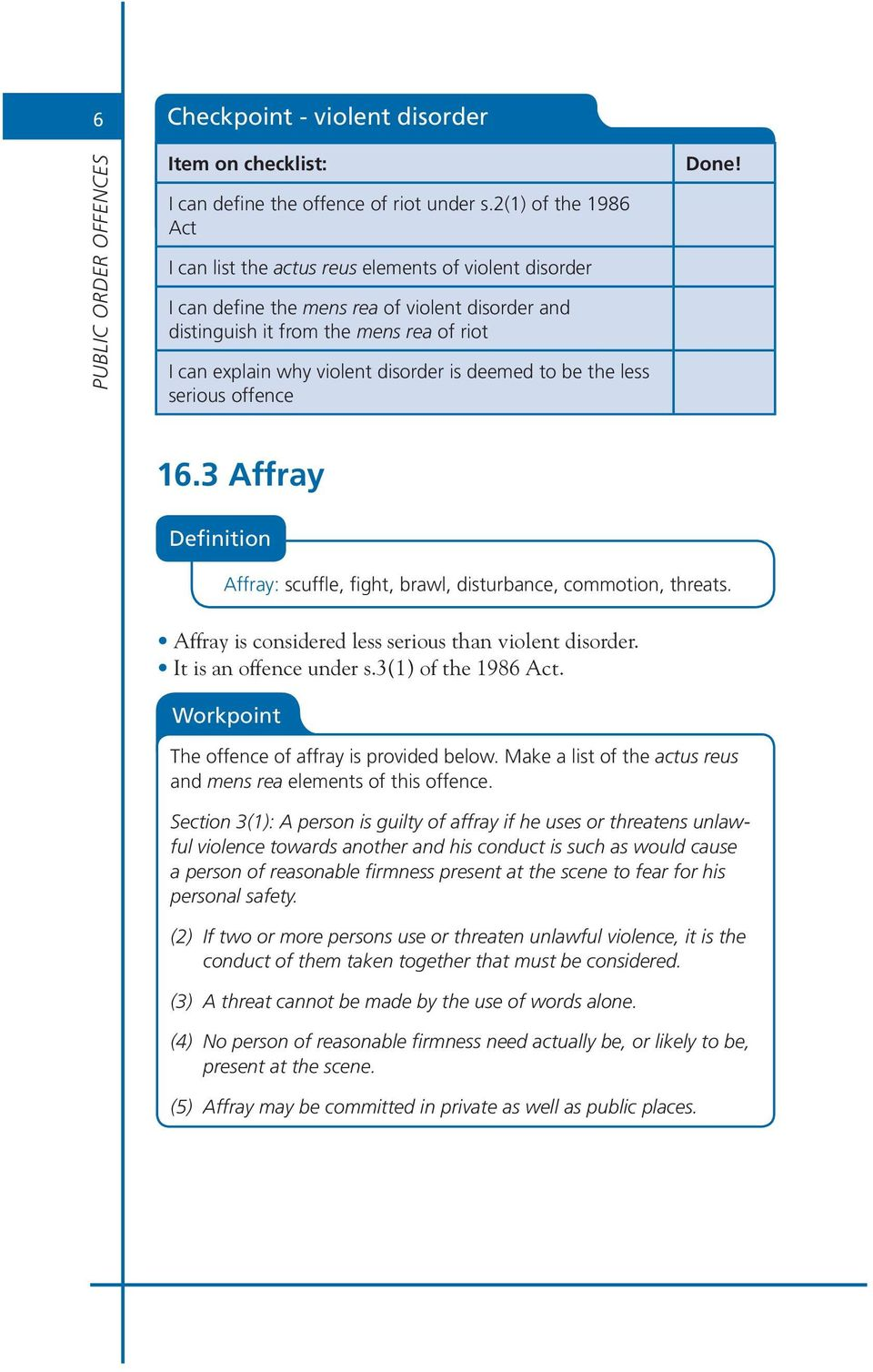 what does the word affray mean