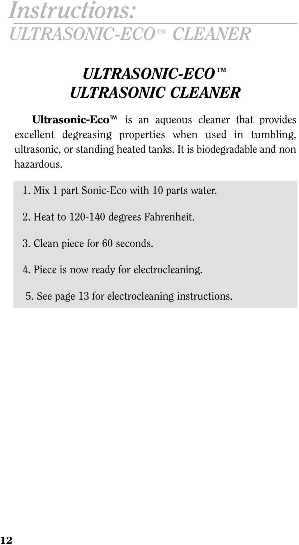 Table Of Contents Super Hard Cyanide Free Diy Circuit Boards Using Photo Etch Process7 Construction It Is Biodegradable And Non Hazardous 1 Mix Part Sonic Eco With