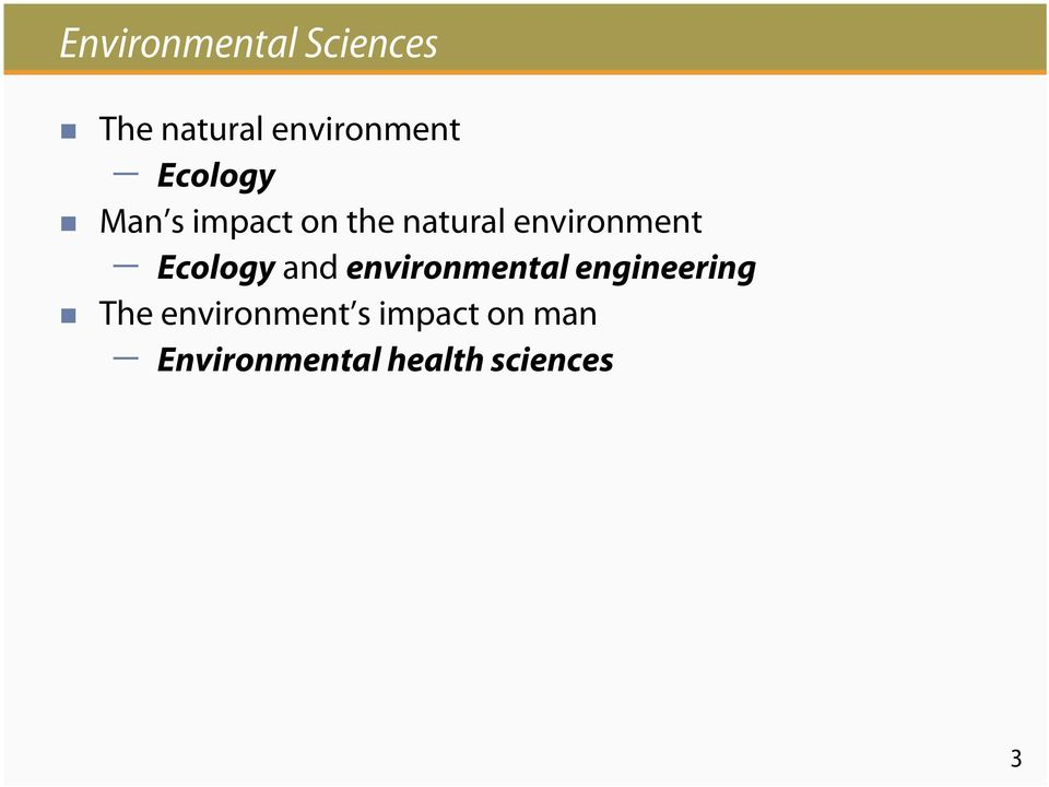 Ecology and environmental engineering The