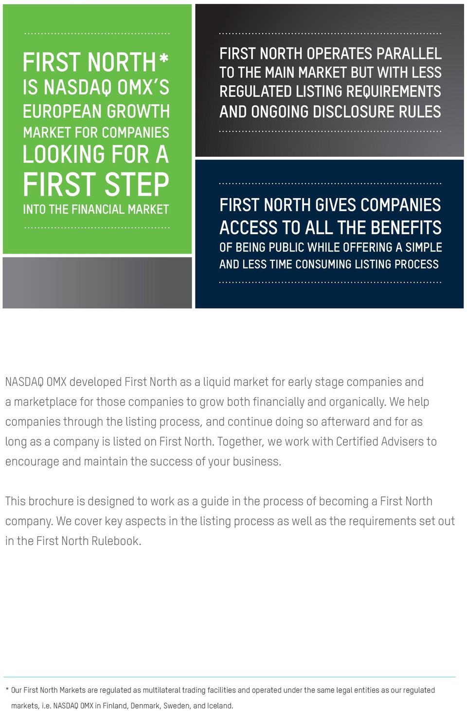 GUIDE TO LISTING ON NASDAQ OMX FIRST NORTH - PDF