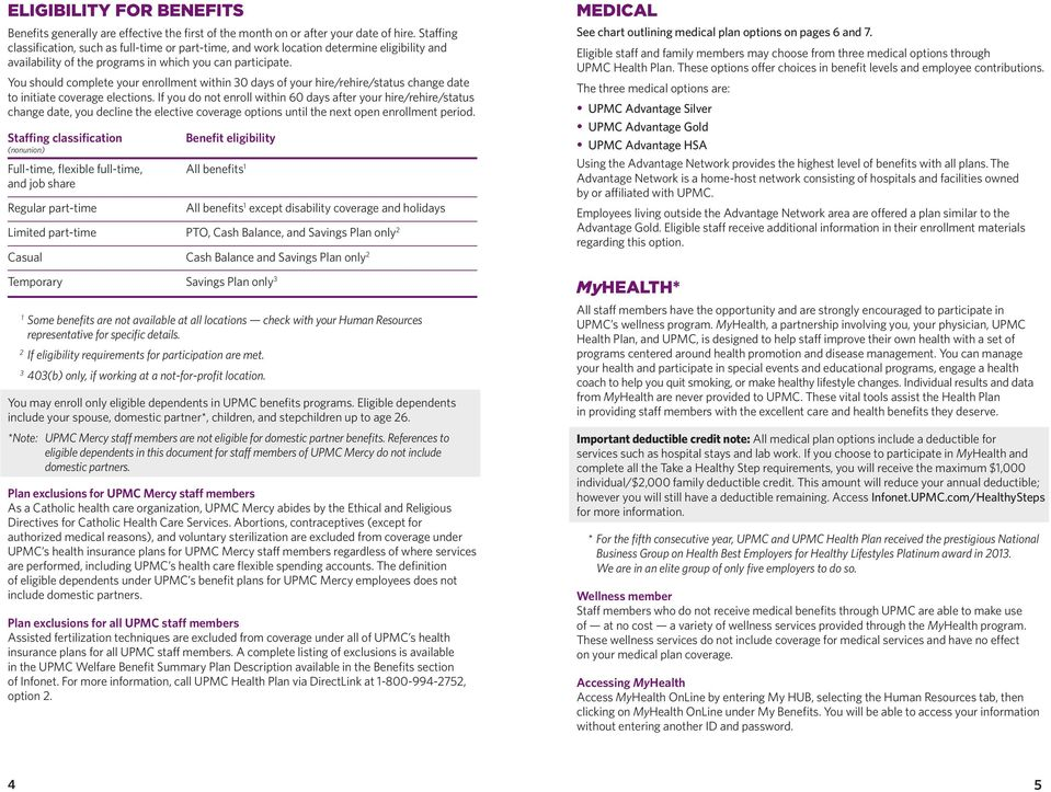 UPMC BENEFITS 2014 BENEFITS OVERVIEW AND GUIDE - PDF