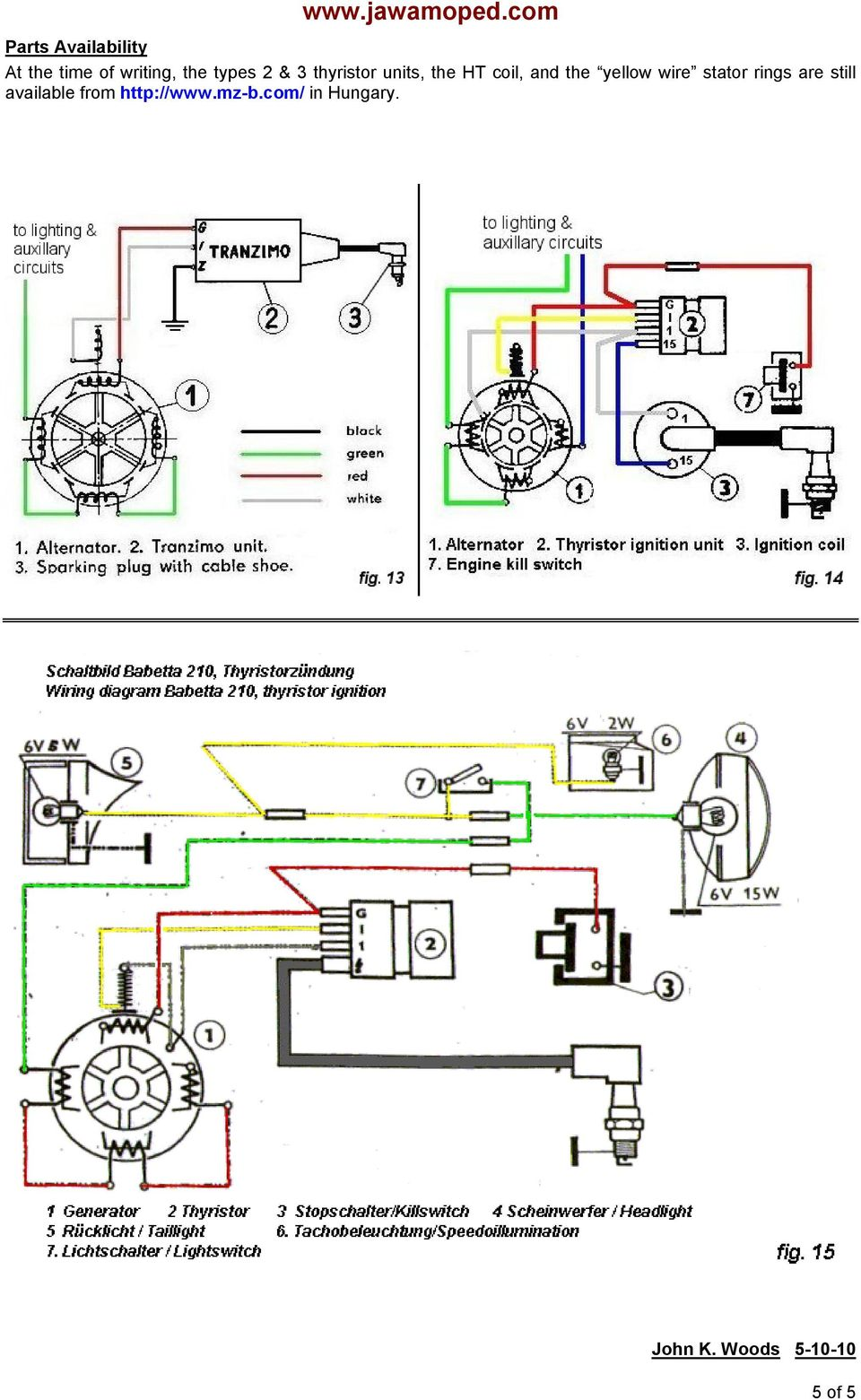 Jawa Moped Wiring Diagram Sachs Puch 1978 Maxi Pdf On