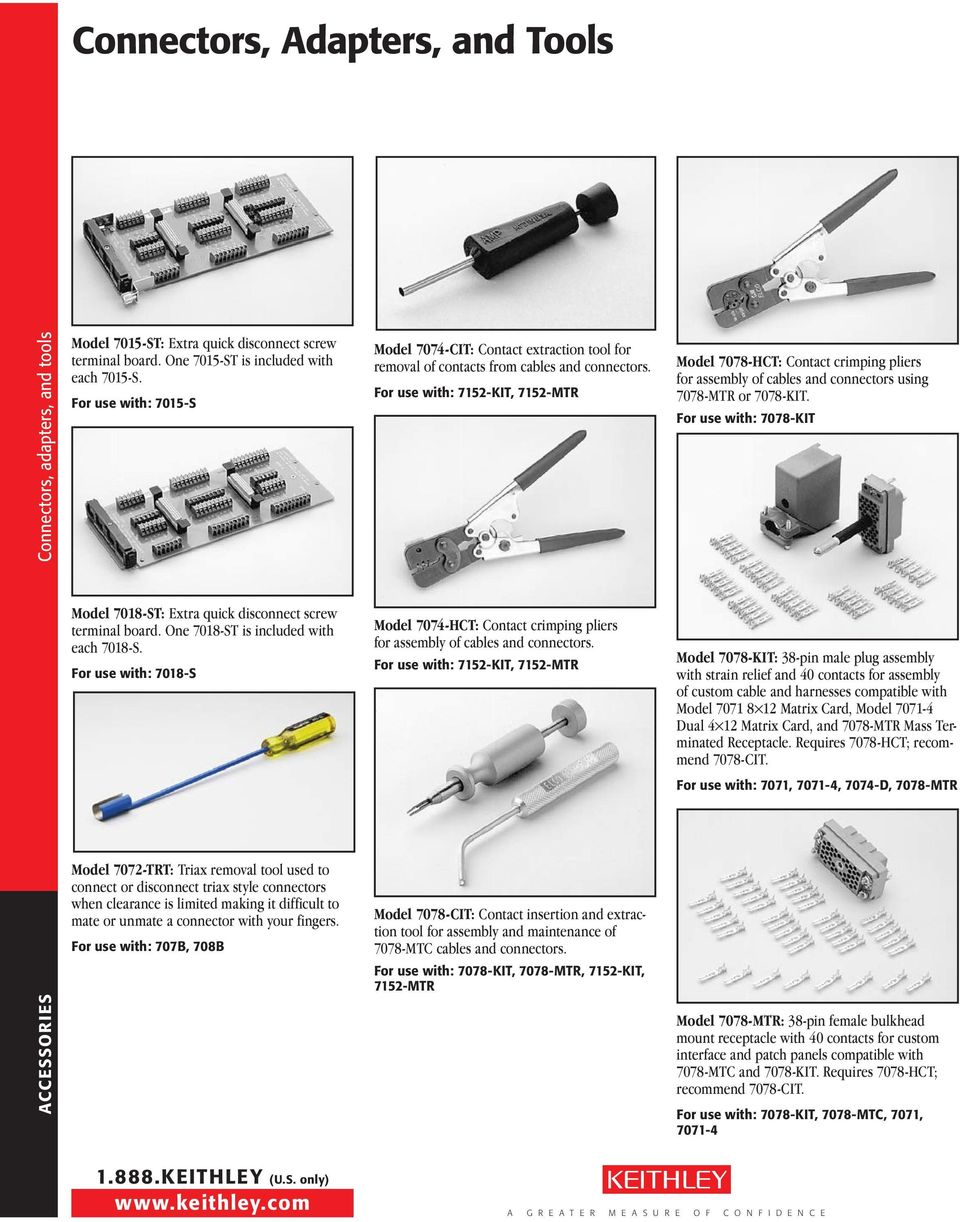 Connectors, Adapters, and Tools - PDF