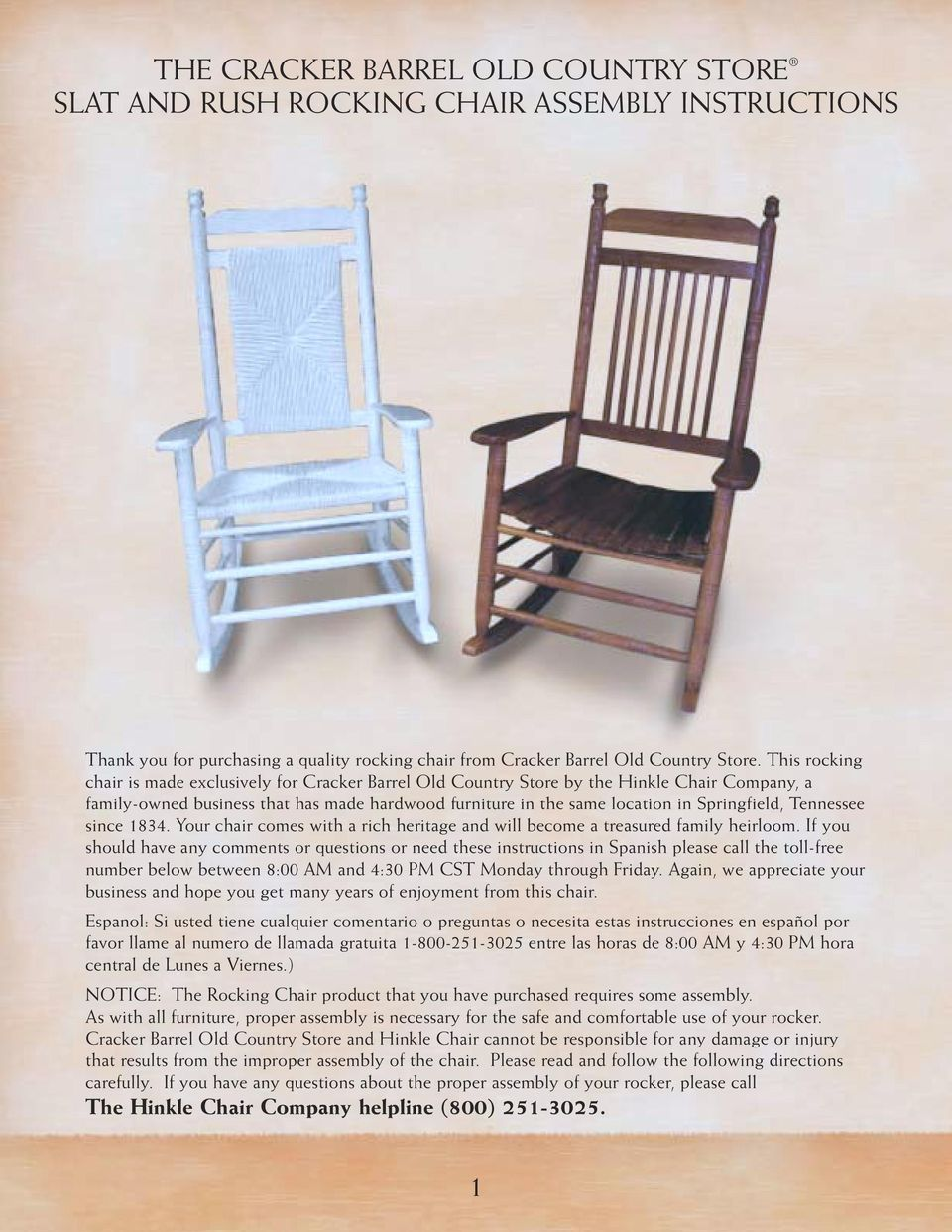 Excellent The Cracker Barrel Old Country Store Rocking Chair Assembly Theyellowbook Wood Chair Design Ideas Theyellowbookinfo