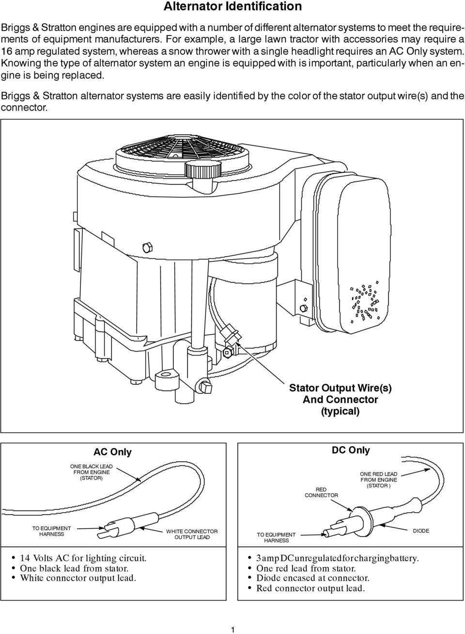 Alternator Identification Pdf Briggs Amp Stratton Wiring Diagram Knowing The Type Of System An Engine Is Equipped With Important Particularly When