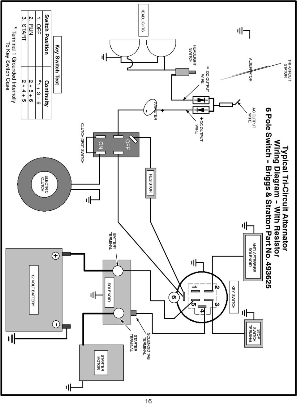 Alternator Identification Pdf 12 Volt Dc Wiring Diagram 96 Antiafterfire Key Output S Ammeter Resistor 6 Tab Off On Motor