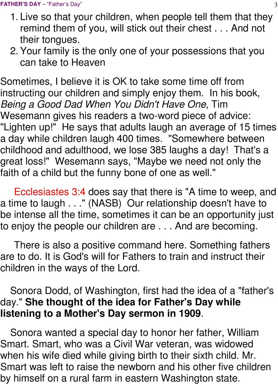 Father s Day  1 Thessalonians 2:11 - PDF