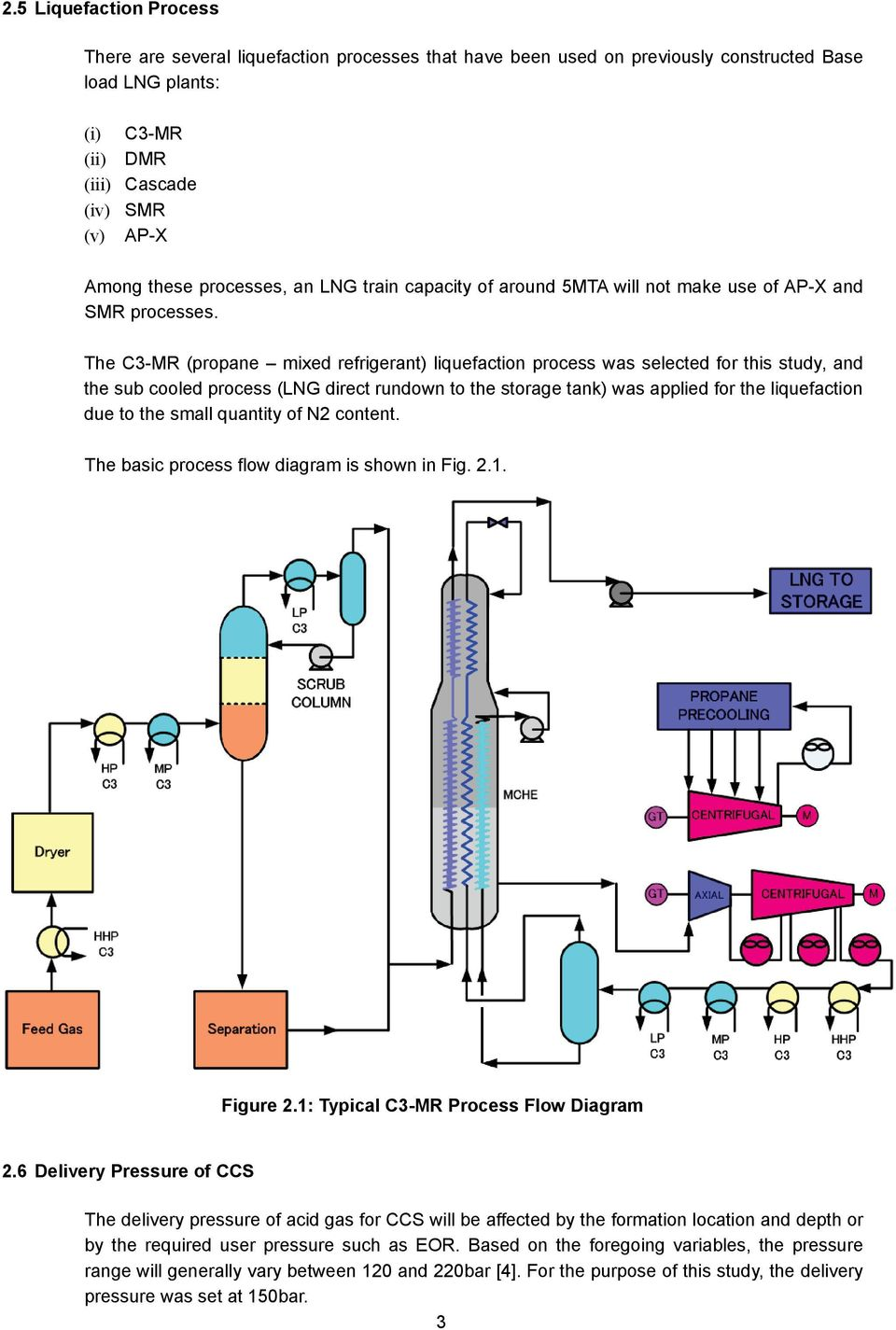 Minimizing The Co2 Emission From Liquefaction Plant Pdf Process Flow Diagram Lng C3 Mr Propane Mixed Refrigerant Was Selected For This Study