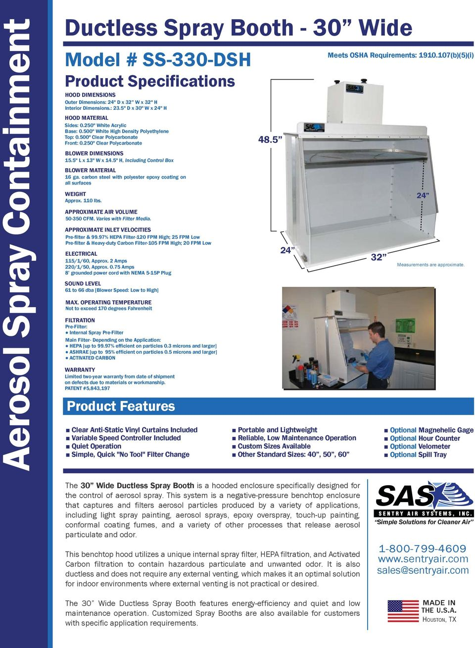 Ductless Spray Booth Series - PDF