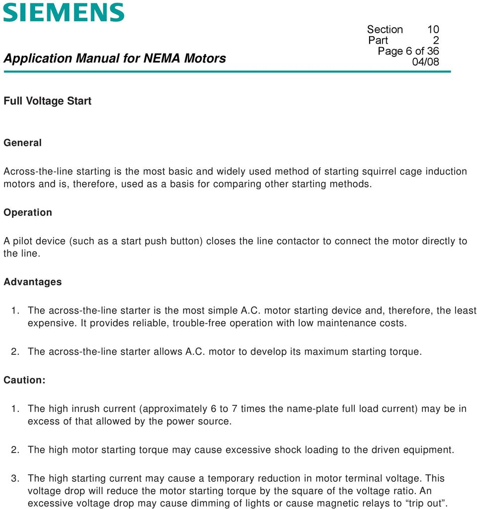 Section 10  Application Manual for NEMA Motors  Special