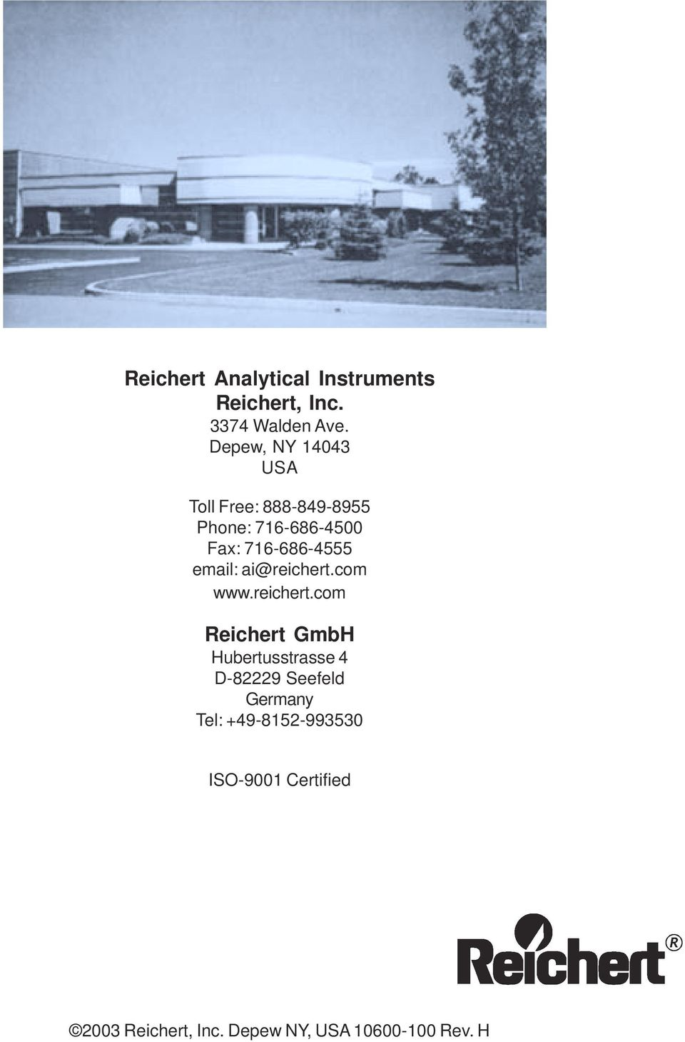 Reichert AR6 SERIES  Automatic Refractometer - PDF