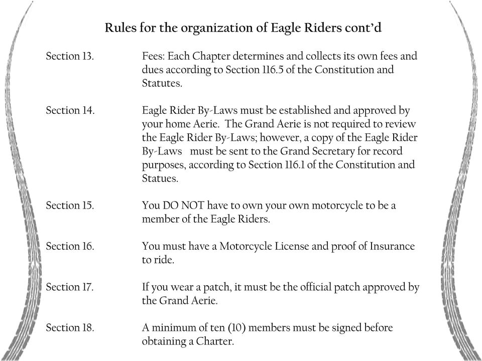 Eagle Riders OUR MISSION - PDF