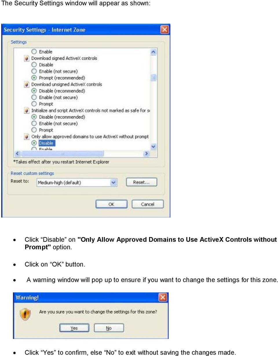 Installation steps for the new ActiveX control  - PDF