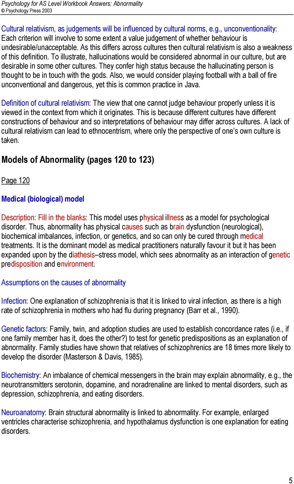 ANSWERS: Abnormality  Contents - PDF