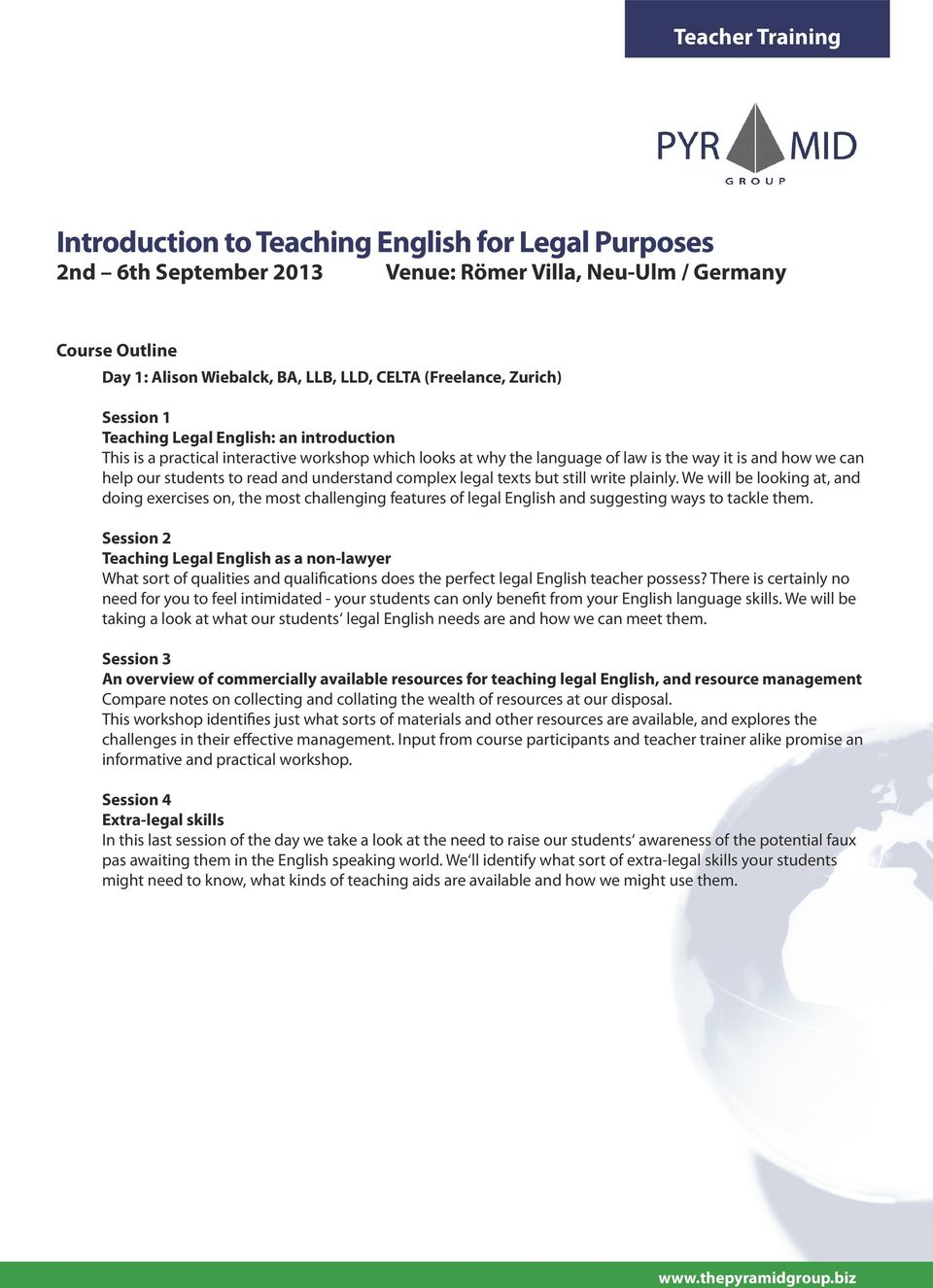 Introduction to Teaching English for Legal Purposes (ITELP