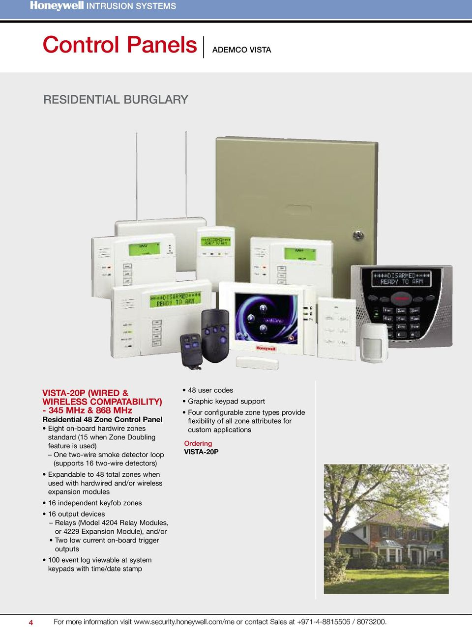 Security Systems Group Intrusion Pdf Honeywell Dualtec Pir Wiring Diy Installers Keyfob Zones 16 Output Devices Relays Model 4204 Relay Modules Or 4229 Expansion Module