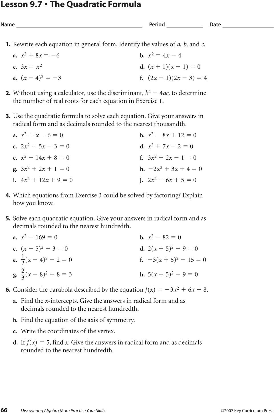 2 5 Practice Literal Equations And Formulas Form G Answer