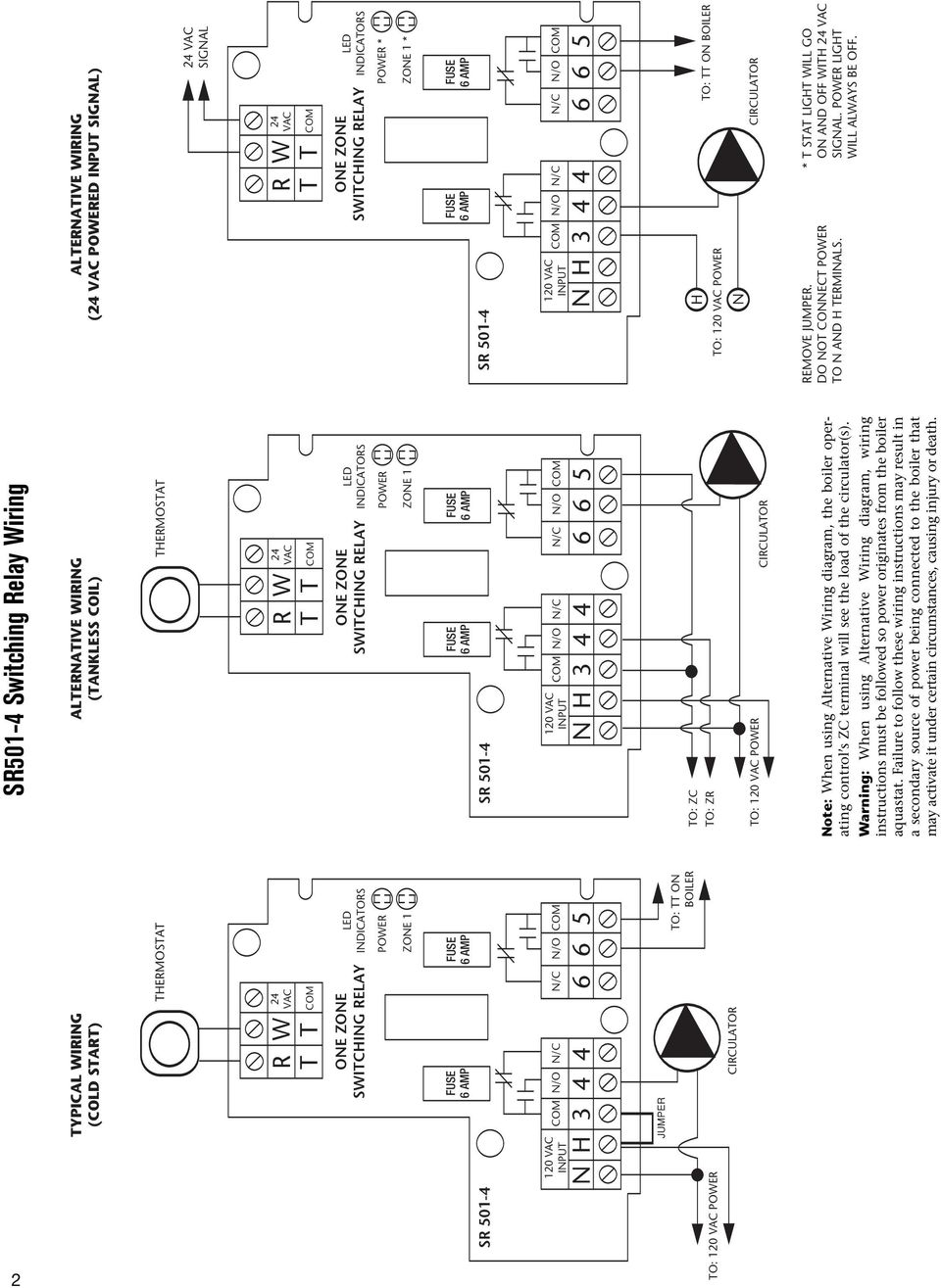 The All New Taco Zone Controls Wiring Guide Pdf Diagram Symbols Chart Warning When Using Alternative Instructions Must Be Followed So Power Originates