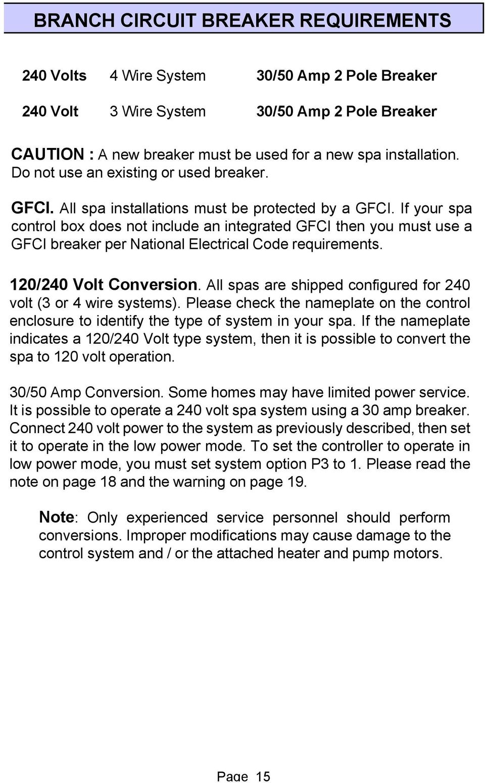 Smartouch Digital User Manual 701 W Foothill Blvd Azusa Ca 626 Wiring Existing Box If Your Spa Control Does Not Include An Integrated Gfci Then You Must Use A