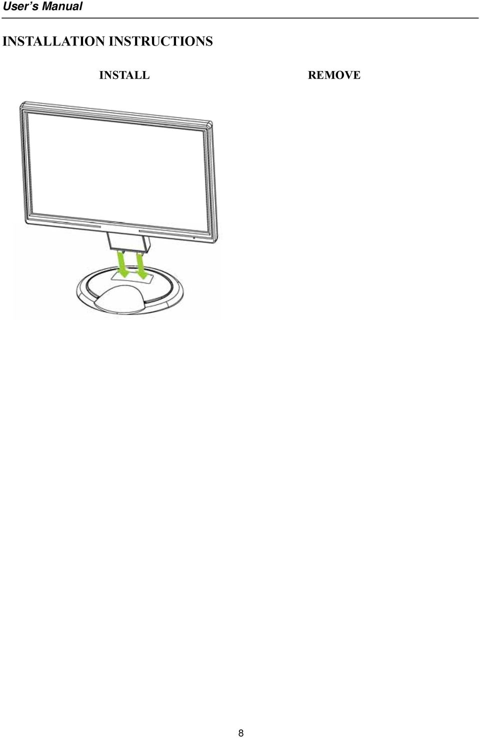 19 inch Wide Screen TFT LCD Monitor - PDF