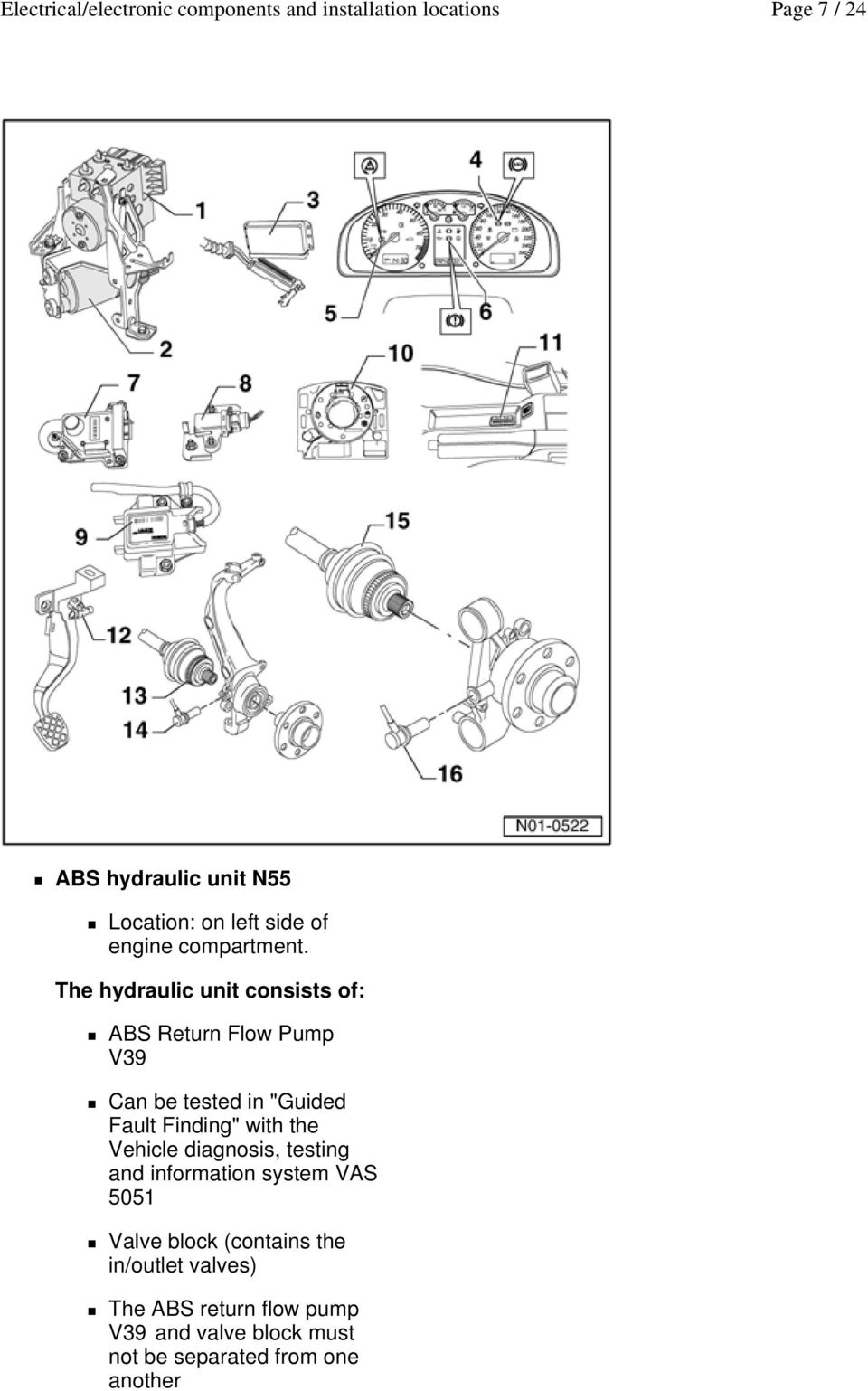 1993 Vw Passat Abs Control And Hydraulic Unit Car Wiring Diagram