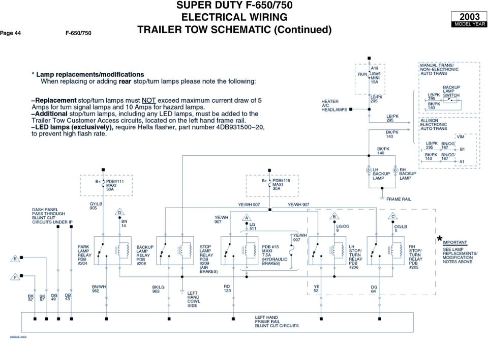 SUPER DUTY F-650/750 ELECTRICAL WIRING CUSTOMER ACCESS ... on