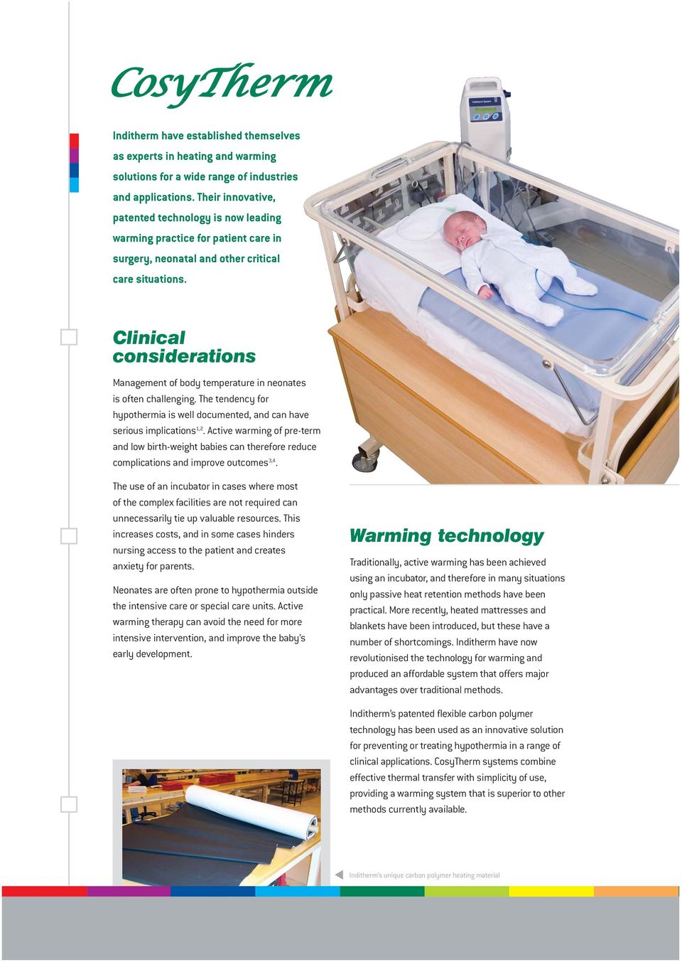 Neonatal Warming Systems  Innovative technology for simpler
