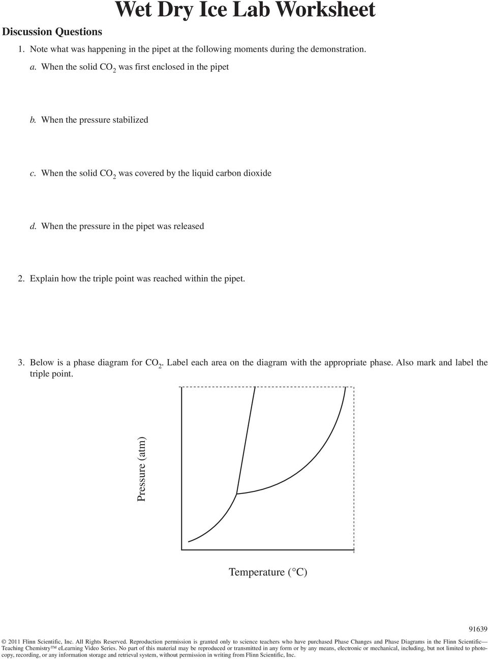 Wet Dry Ice Lab Phase Changes And Phase Diagrams Pdf
