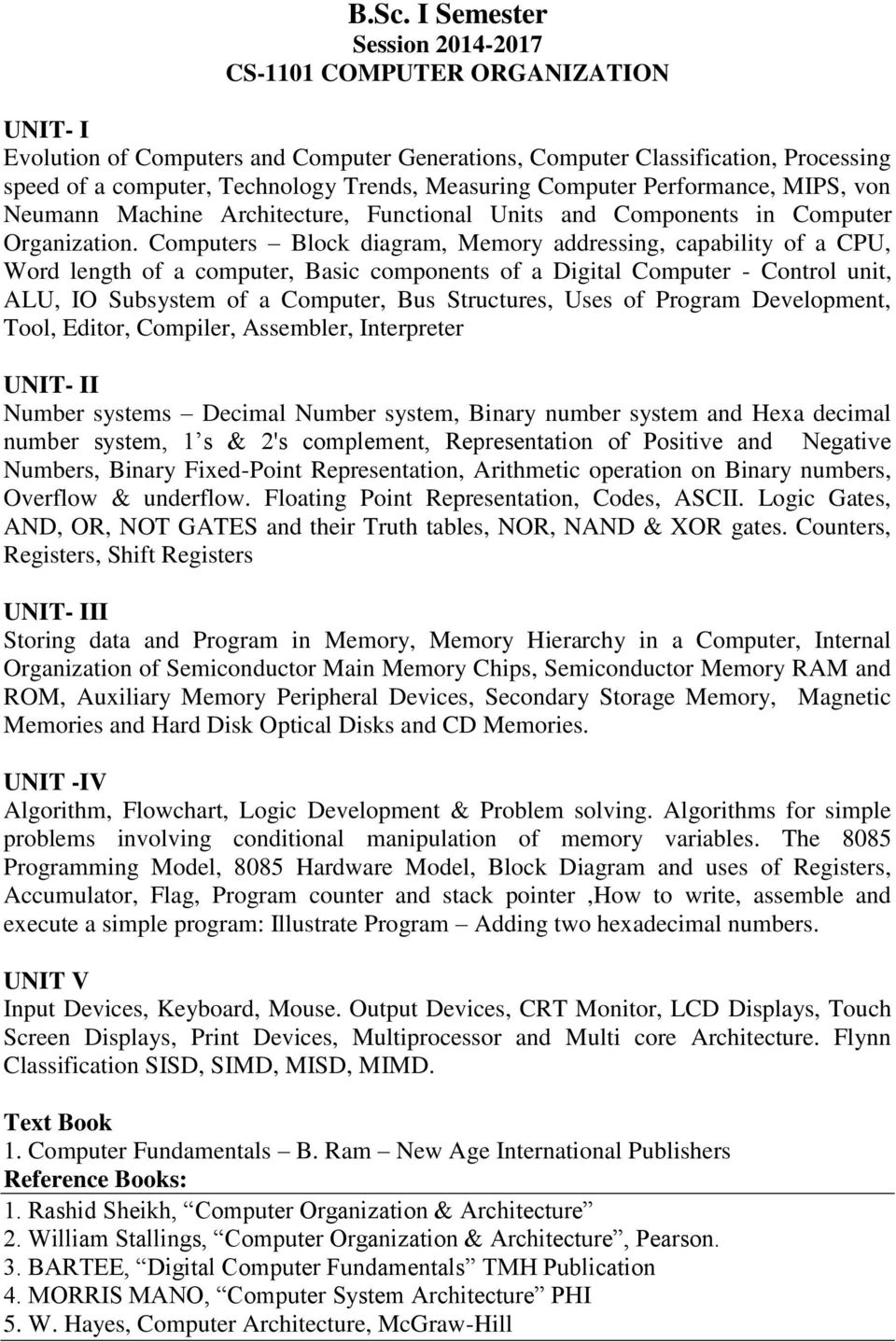 Govt Holkar Science College Indore Department Of Computer Organization Systems Arithmetic Computers Block Diagram Memory Addressing Capability A Cpu Word Length