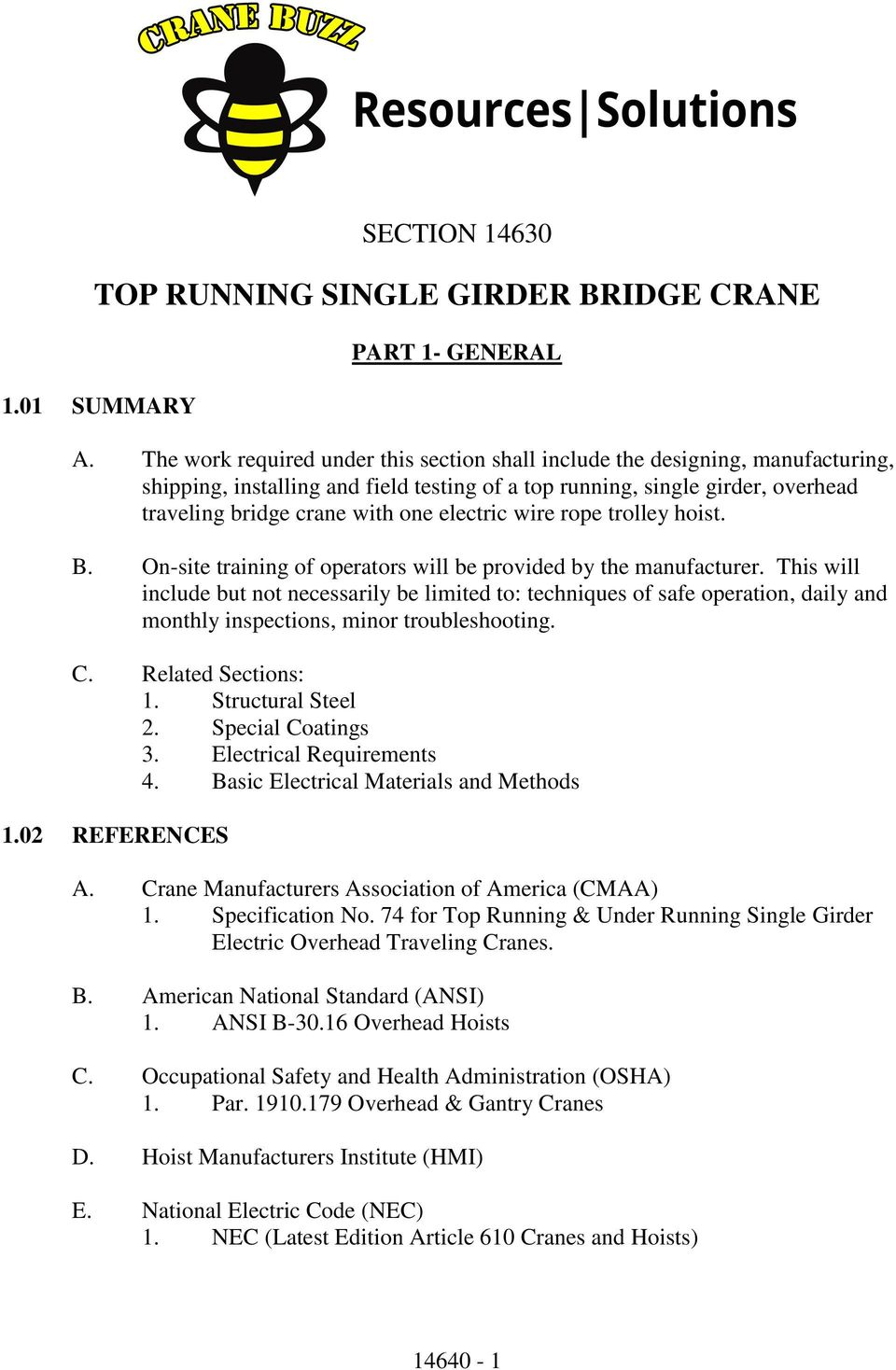 Top Running Single Girder Bridge Crane Pdf 3 Ton Yale Hoist Wiring Diagram For Electric Wire Rope Trolley B On Site Training Of Operators Will Be