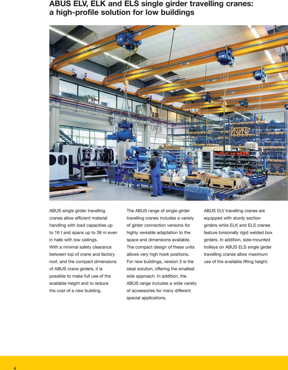 Overhead cranes. crane systems. Moving on up. - PDF on