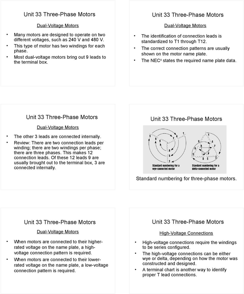 unit 33 three-phase motors - pdf dual voltage motor wiring diagram phase  wire on