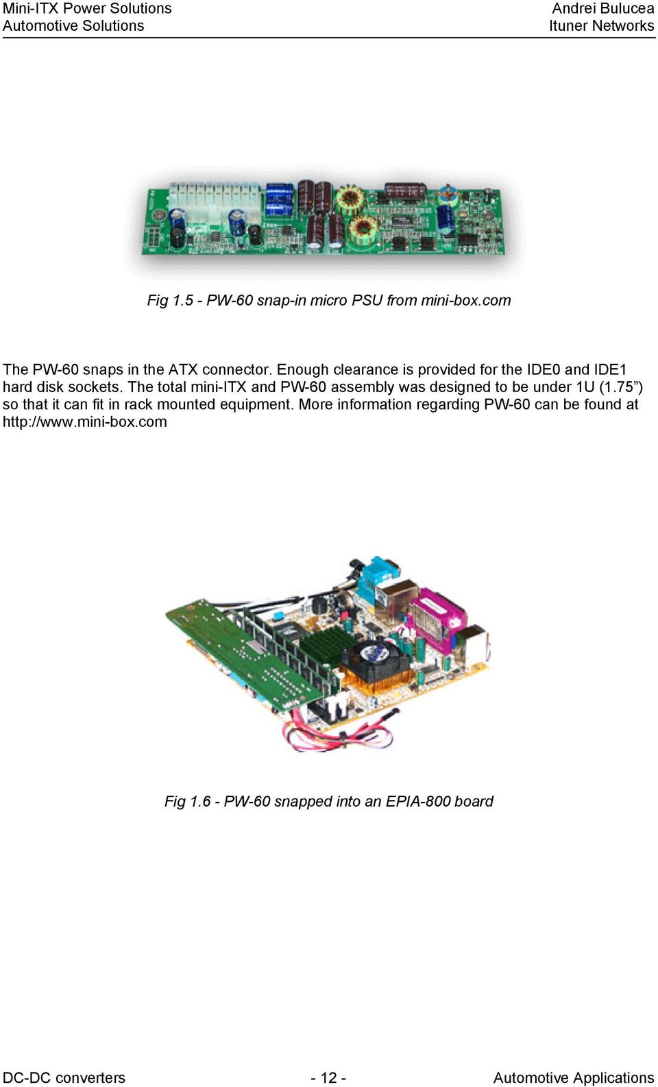 Mini Itx Power Solutions Pdf Automotif Wiring Diagram Adjustable Supply 12 30v 5a Using The Total And Pw 60 Assembly Was Designed To Be Under 1u