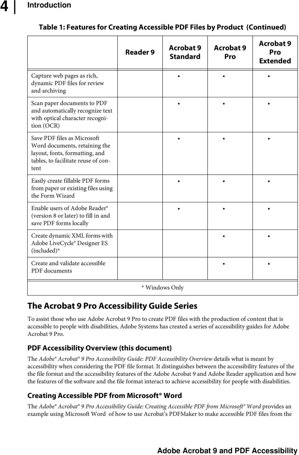 Adobe Acrobat 9 Pro Accessibility Guide: PDF Accessibility Overview