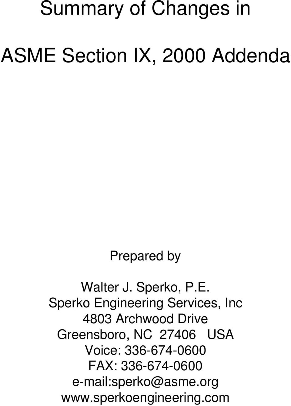 Summary of Changes in  ASME Section IX, 2000 Addenda - PDF