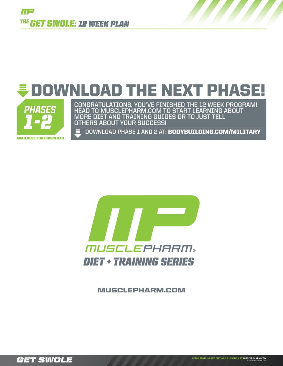 get swole the DIET+WORKOUT GUIDE PHASE