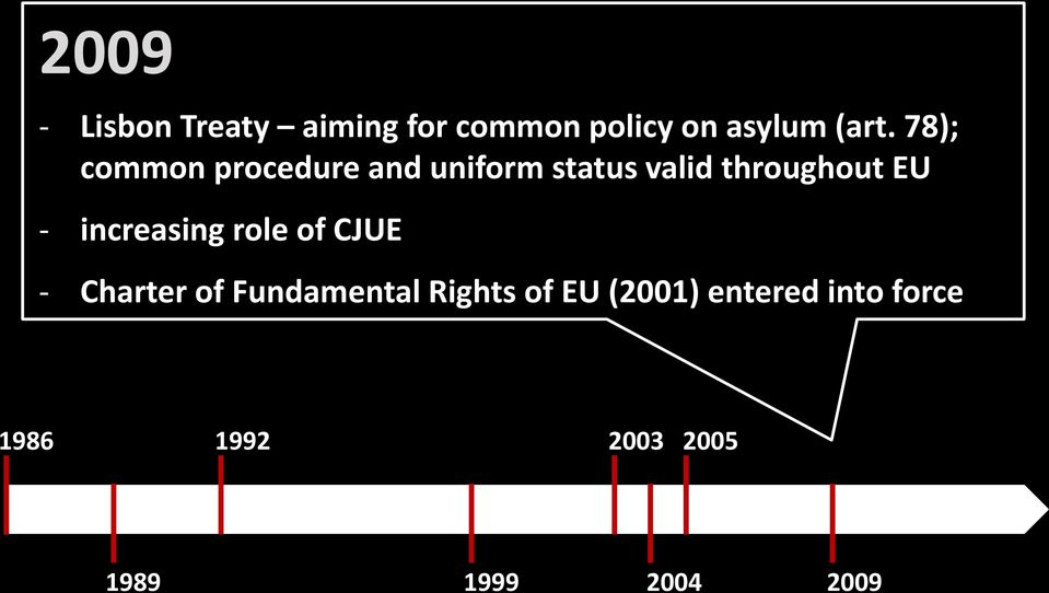 increasing role of CJUE - Charter of Fundamental Rights of EU