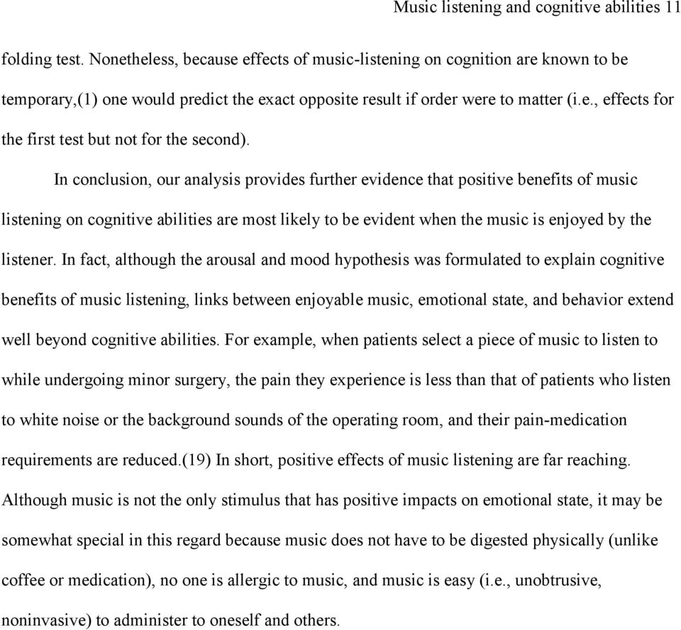Music listening and cognitive abilities in 10- and 11-year