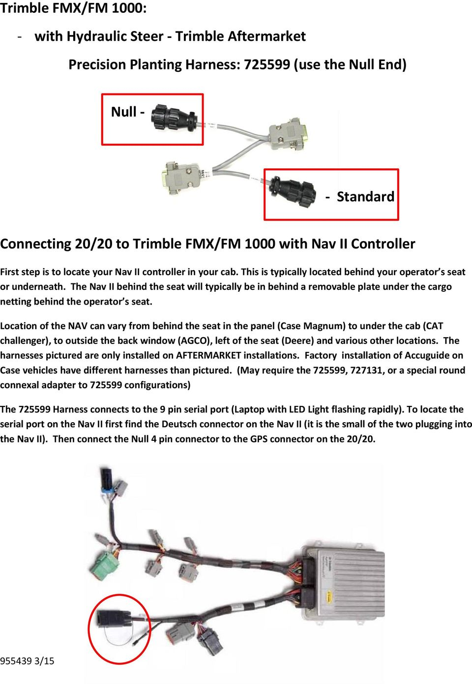 Gps Selection Guide Ez 500 250 Trimble Pdf Diagram Further 9 Pin Deutsch Diagnostic Connector The Nav Ii Behind Seat Will Typically Be In A Removable Plate Under