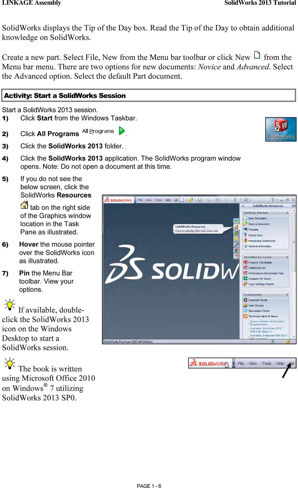 Solidworks 2013 Tutorial With Pdf Free Download