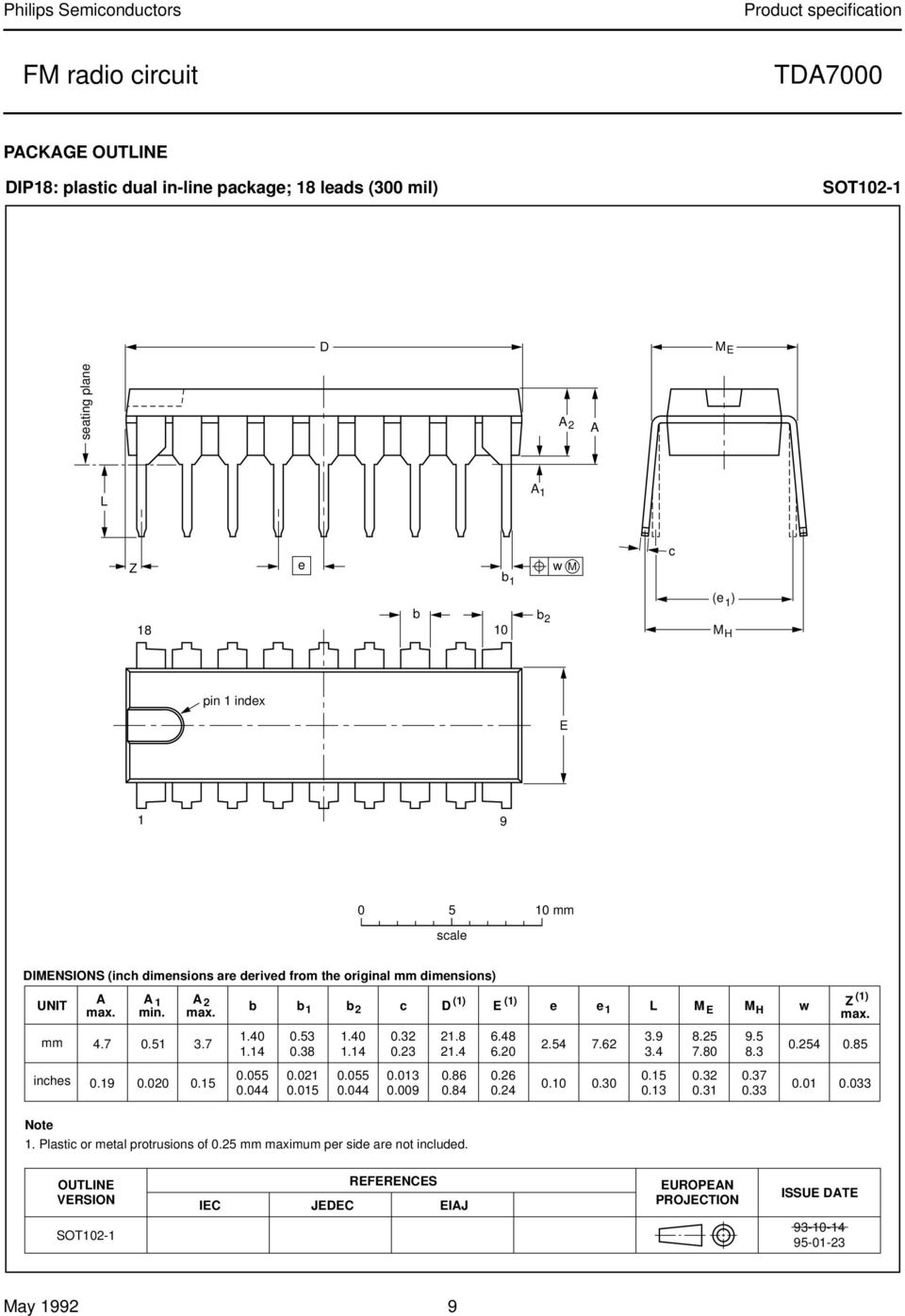 Integrated Circuits Data Sheet Tda7000 Fm Radio Circuit Product La4550 Audio Amplifier Electronic And Diagramelectronics 51 37 254 762 0254 085 114 038 023 214 620 34 780 83 Inches