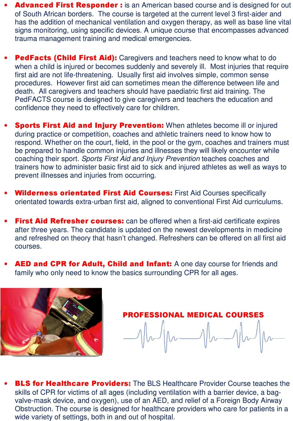 Er24 Training Academy Prospectus Pdf Micro Ventilator Responder A Unique Course That Encompasses Advanced Trauma Management And Medical Emergencies