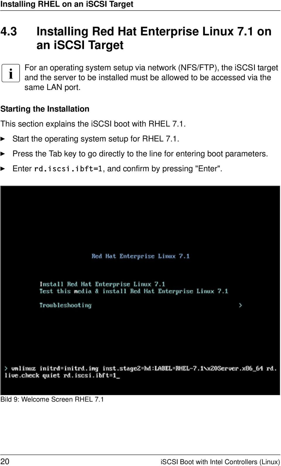 iscsi Boot for PRIMERGY Servers with Intel Network