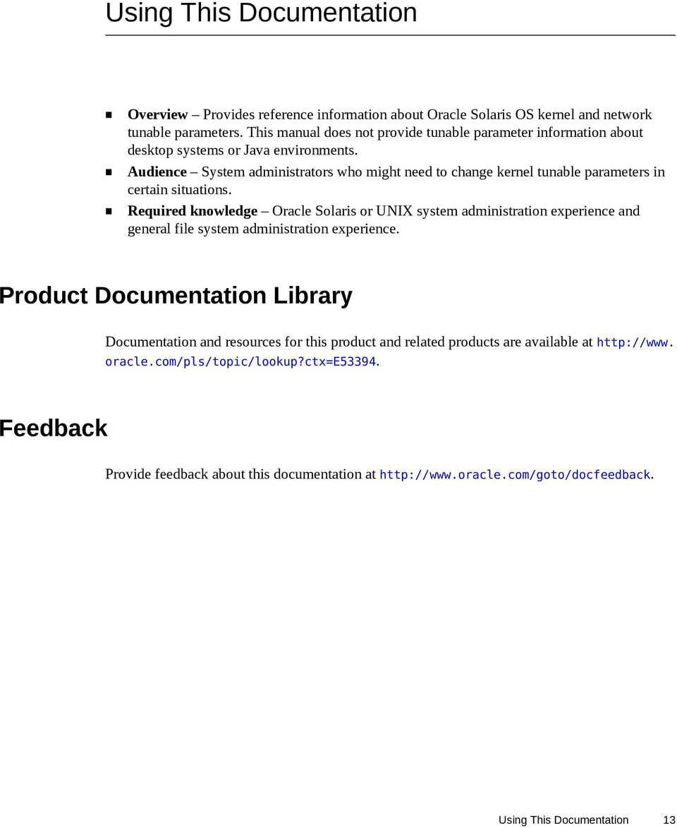Oracle Solaris 11 3 Tunable Parameters Reference Manual - PDF