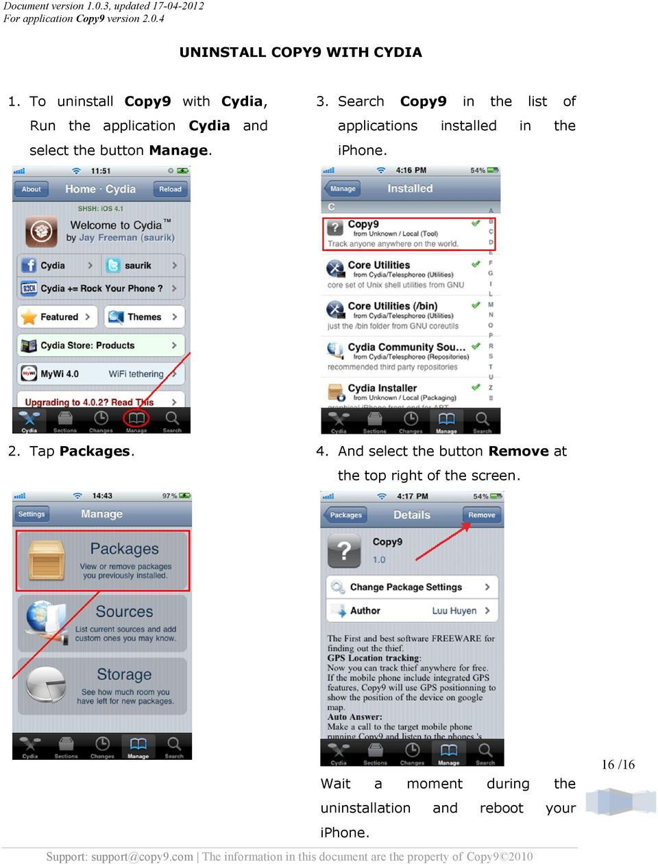 COPY9 USER GUIDE for iphone - PDF